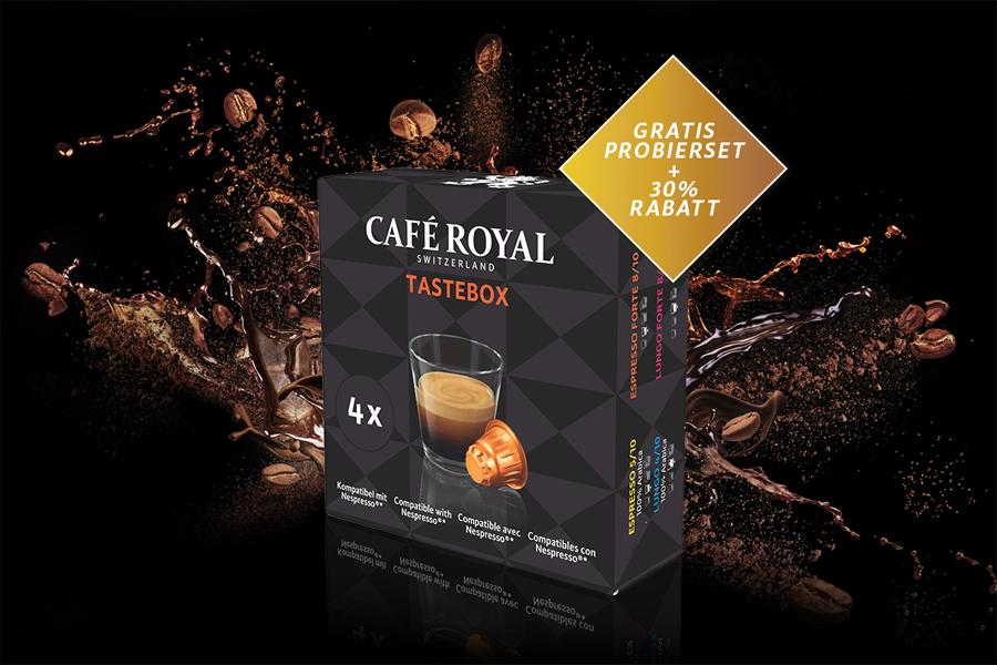 caf royal gratis probierset f r das nespresso system. Black Bedroom Furniture Sets. Home Design Ideas